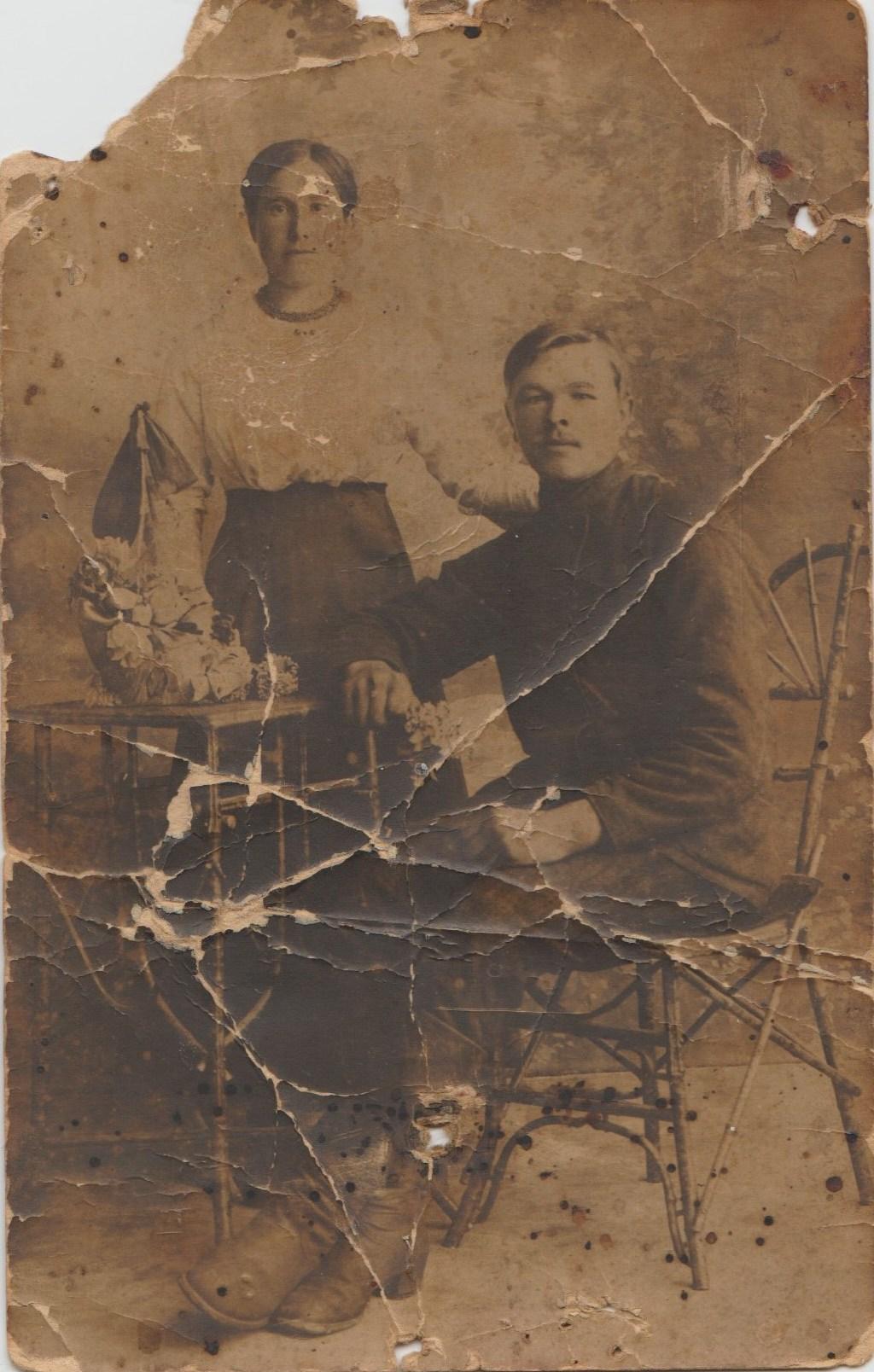 CYPLA Stanisław i Ewa CYPLA zd. BYLCZYŃSKA_około 1919 roku