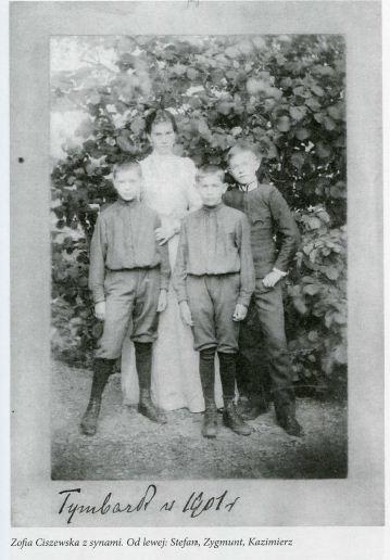 Zofia Ciszewska zd. Tołłoczko z synami